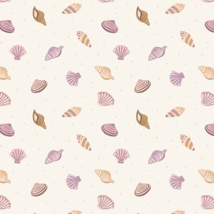 Lewis & Irene Small Things by the Sea, Shells on Cream