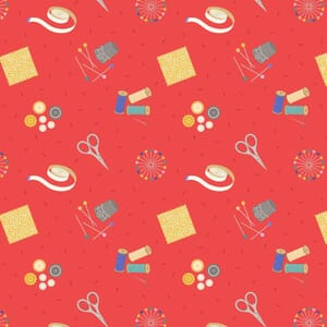 Lewis and Irene Small Things Crafts Sewing Red