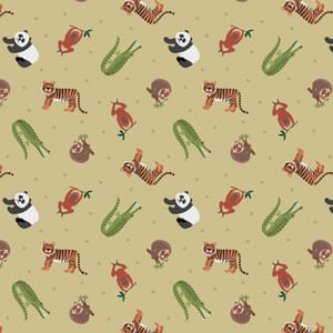 Lewis and Irene Small Things World Animals Asian Animals Light Bamboo Green