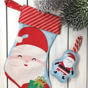 Large Image 2 Moda Cut Sew Create - Christmas Stocking Ornaments 43 x 43 Inches