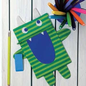 Large Image 2 Moda Cut Sew Create - Monster Zipper Pouch Panel 17 x 17 Inches