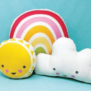 Large Image 2 Moda Cut Sew Create - Sunshine Rainbow Cloud Pillows 33 x 40 Inches