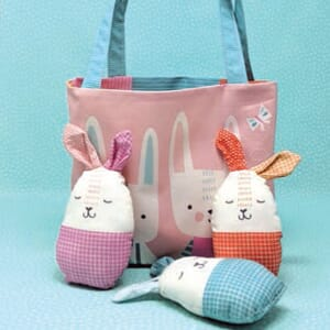 Large Image 2 Moda Cut Sew Create - Easter Egg Bag Panel 33 x 44 Inches