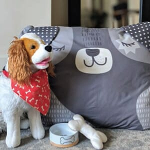Large Image 2 Moda Cut Sew Create - Doggie Bed Toy Scarf Panel 85 x 53 Inches