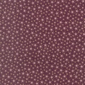 Large Image of Lynette Anderson Winter Playground Stitched Stars Cherry