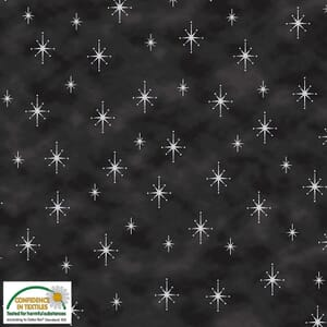 Magic Christmas Stars Metallic Black