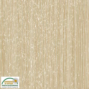 Magic Christmas Stripe Metallic Beige