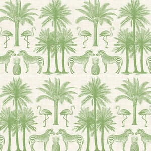 Makower Fabric Fern Garden Palm Green 2073/G
