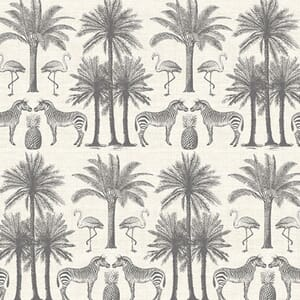 Makower Fabric Fern Garden Palm Grey 2073/S