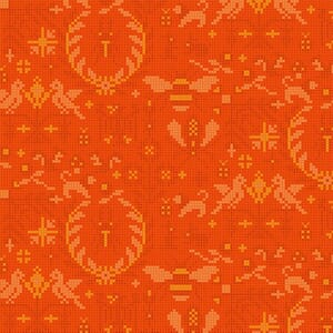 Makower Fabric Menagerie Tiger 2-9387O