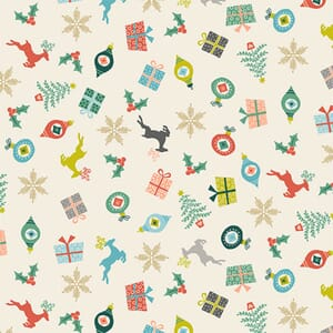 Makower Fabric Merry Scatter 2113-1