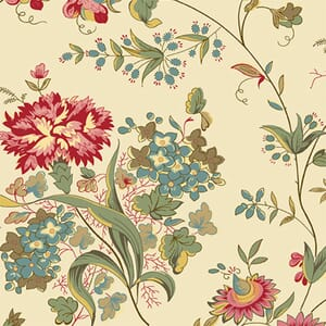 Makower Fabric Nanas Flower Garden 2-9532L