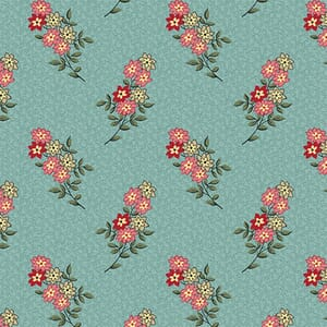 Makower Fabric Nanas Flower Garden 2-9533T