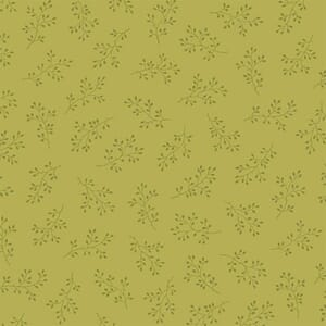 Makower Fabric Olive Branch Citron 2-8511V1