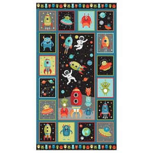 Makower Outer Space Fabric Panel 24x44 Inch