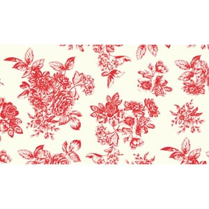 Small Image of Makower Patchwork Fabric Katie Jane Toile Red