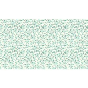 Small Image of Makower Patchwork Fabric Katie Jane Tonal Floral Turquoise