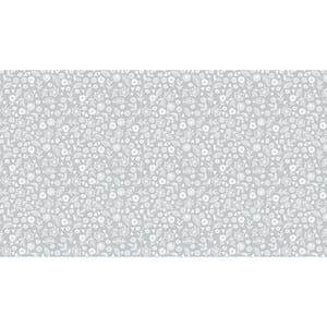 Small Image of Makower Patchwork Fabric Essentials Doodle Ditzy Pewter
