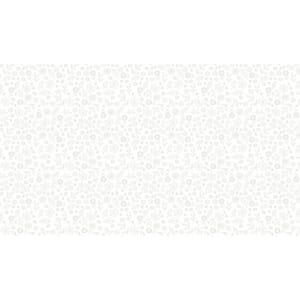 Small Image of Makower Patchwork Fabric Essentials Doodle Ditzy White On White