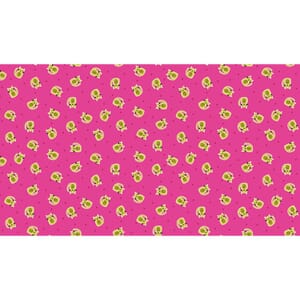 Small Image of Makower Patchwork Fabric Kitty Scatter Pink