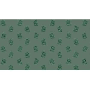 Small Image of Makower Patchwork Fabric Crystal Farm Horses Green