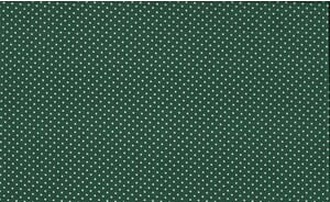 Small Image of Makower Patchwork Fabric Spots on Forest Green