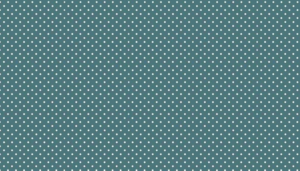 Makower Patchwork Fabric Spots on Teal