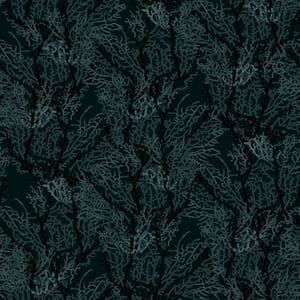 Makower Reef Seaweed Black Fabric