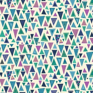 Base Image of Makower Rhapsody Triangles Blue Quilting Fabric