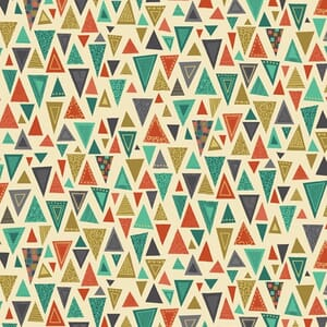 Base Image of Makower Rhapsody Triangles Black Quilting Fabric