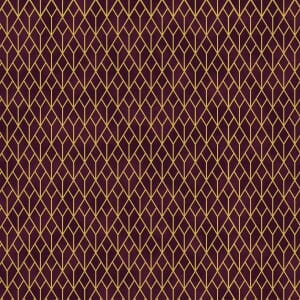 Small Image of Stof Christmas Fabric, Starlight 4594-016, Wine