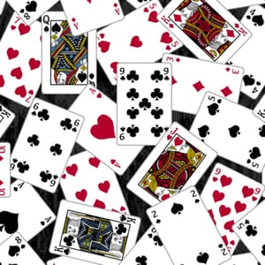 Stof Man Cave Fabric Playing Cards Black