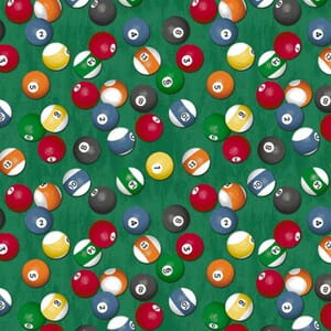 Stof Man Cave Fabric Pool Balls Green