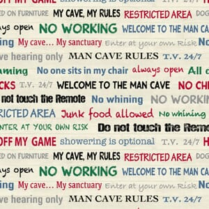 Stof Man Cave Fabric Rules Natural