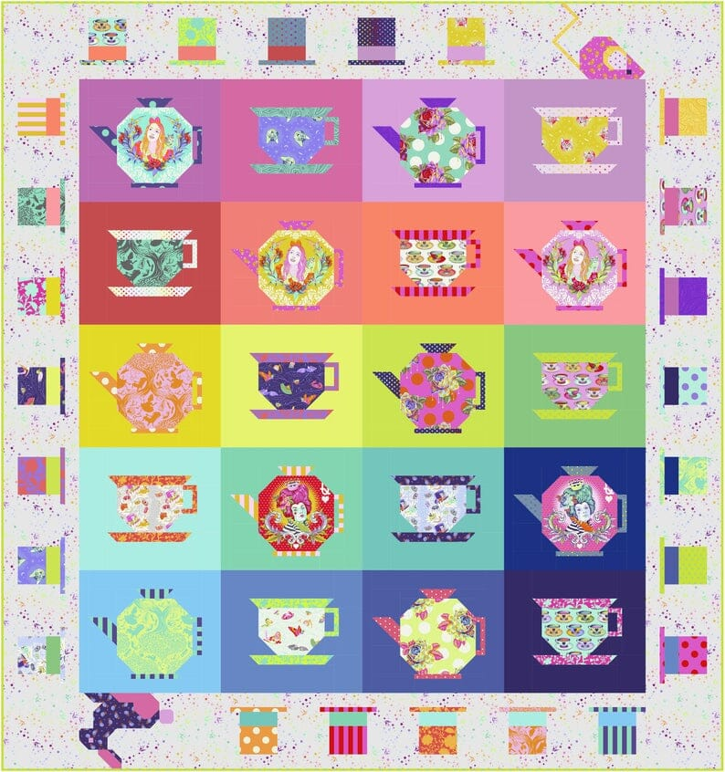 Tula Pink Curiouser and Curiouser Mad Hatter Quilt Kit