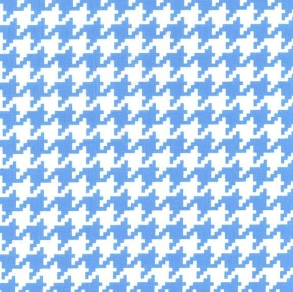 Michael Miller Fabric Houndstooth & Friends Everyday Houndstooth Boy Blue