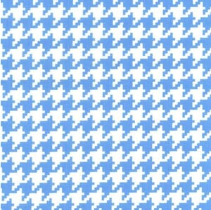 Small Image of Michael Miller Fabric Houndstooth & Friends Everyday Houndstooth Boy Blue