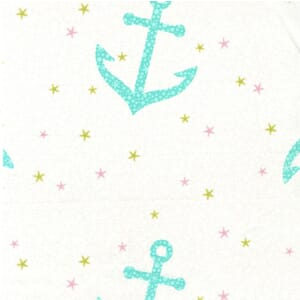 Small Image of Michael Miller Into The Deep Starfish Anchors Pear Cotton Fabric