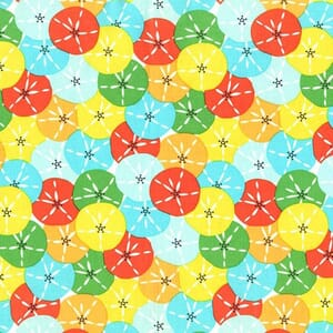 Small Image of Michael Miller Sea Buddies Sand Dollars Wave Cotton Fabric