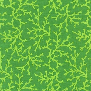 Small Image of Michael Miller Sea Buddies Sea Coral Green Cotton Fabric