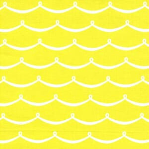 Small Image of Michael Miller Sea Buddies Wave Citron Cotton Fabric