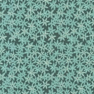 Small Image of Michael Miller Sea Holly Star Flowers Seafoam Cotton Fabric