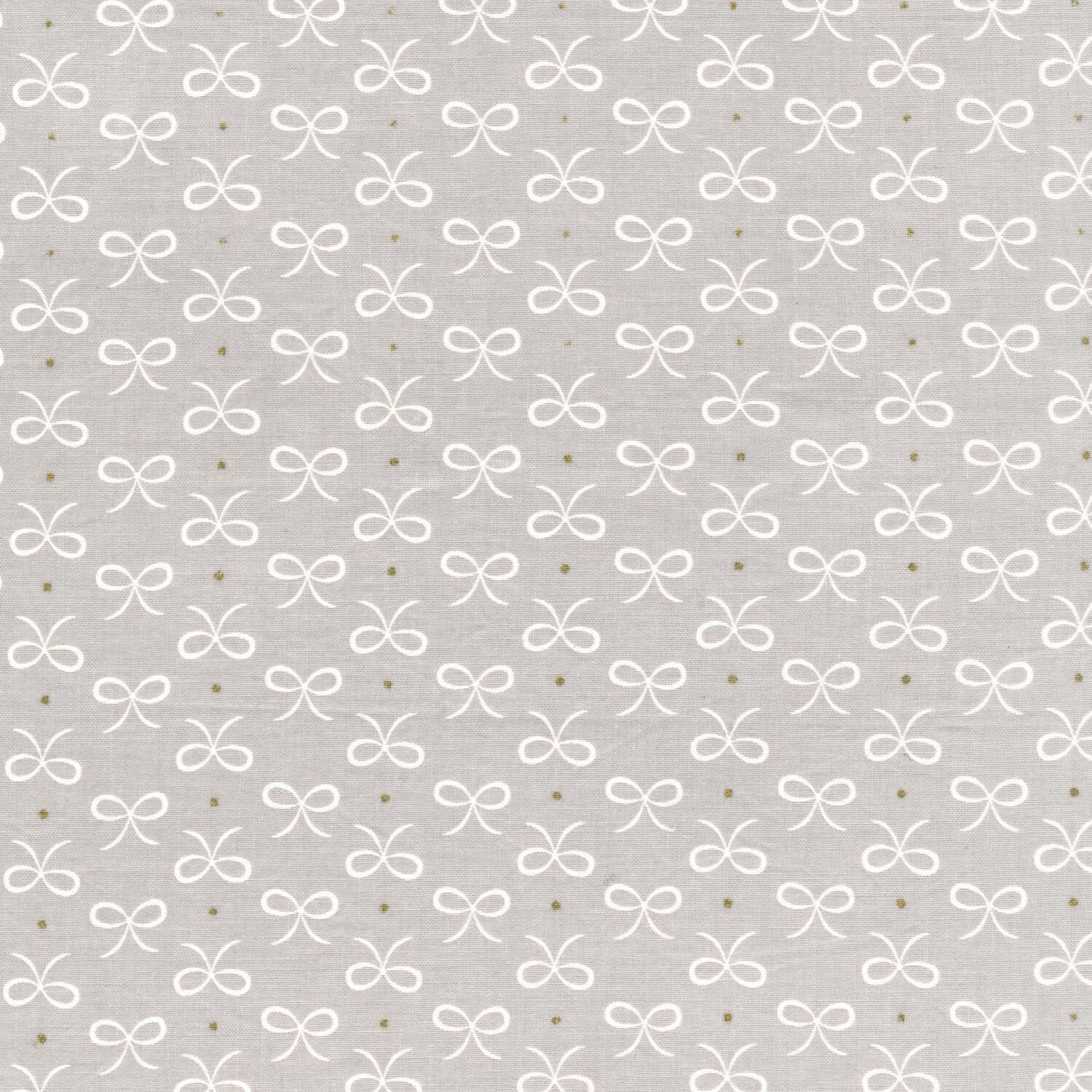 Michael Miller Wee Sparkle Bitty Bows Cloud With Metallic Cotton Fabric
