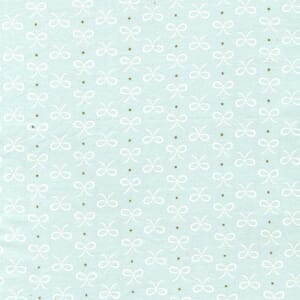 Small Image of Michael Miller Wee Sparkle Bitty Bows Mist With Metallic Cotton Fabric