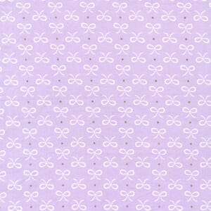 Small Image of Michael Miller Wee Sparkle Bitty Bows Opal With Metallic Cotton Fabric