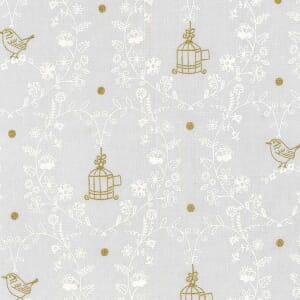 Small Image of Michael Miller Wee Sparkle Free Bird Cloud With Metallic Cotton Fabric