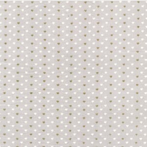 Small Image of Michael Miller Wee Sparkle Heart Sprinkle Cloud With Metallic Cotton Fabric