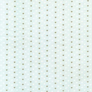 Small Image of Michael Miller Wee Sparkle Heart Sprinkle Mist With Metallic Cotton Fabric
