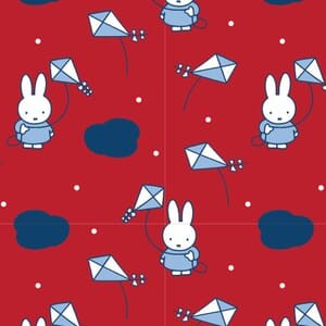 Miffy Holiday Collection Kite Red Fabric