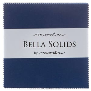 Small Image of Moda Fabric Bella Solids Charm Pack Blue